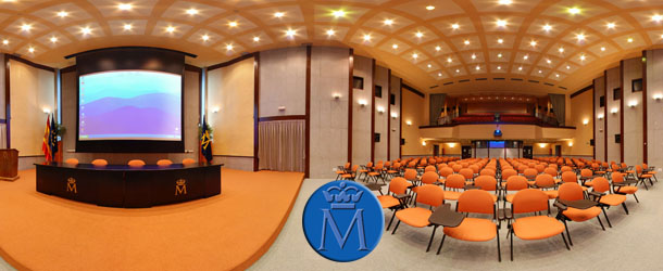 Vista equirectangular del Auditorio